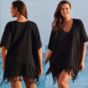 Other - Sheer beach coverup with lace trim